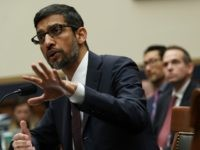 Google CEO Sundar Pichai before Congress