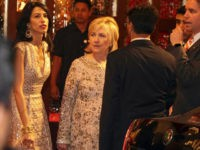 Former U.S. Secretary of State Hillary Clinton arrives to attend the wedding of Isha Ambani, the daughter of Reliance Industries Chairman Mukesh Ambani, and Anand Piramal in Mumbai, India, Wednesday, Dec. 12, 2018. In a season of big Indian weddings, the Wednesday marriage of the scions of two billionaire families …