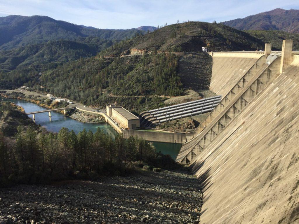 Shasta Dam and Sacramento River (Joel Pollak / Breitbart News)