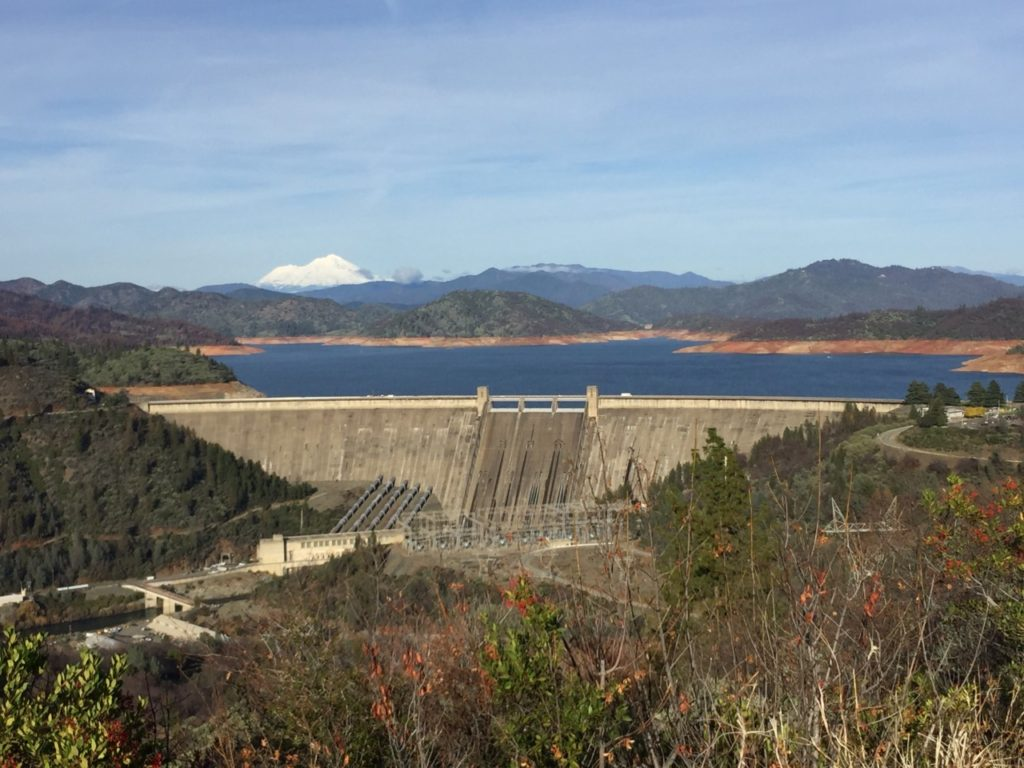 Shasta Dam, Mount Shasta, and Lake Shasta (Joel Pollak / Breitbart News)