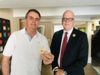 Brazil's President-elect Jair Bolsonaro meets with Orlando Gutierrez-Boronat of the Assembly of Cuban Resistance to discuss fighting communism, Rio de Janeiro, 12/20/2019