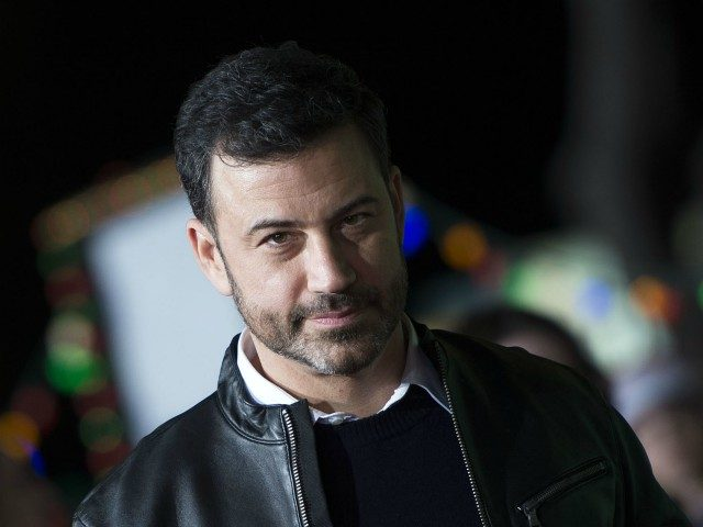 TV Personality Jimmy Kimmel arrives for the premiere of 'Office Christmas Party' at the Regency Village Theater in Los Angeles on December 7, 2016. / AFP / VALERIE MACON (Photo credit should read VALERIE MACON/AFP/Getty Images)