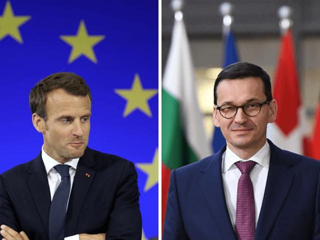 Macron and Morawiecki