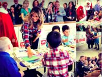 PHOTOS: First Lady Melania Trump Embraces Children at Toys for Tots Drive