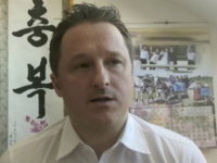 In this image made from video taken on March 2, 2017, Michael Spavor, director of Paektu Cultural Exchange, talks during a Skype interview in Yangi, China. A second Canadian man is feared detained in China in what appears to be retaliation for Canada's arrest of a top executive of telecommunications …