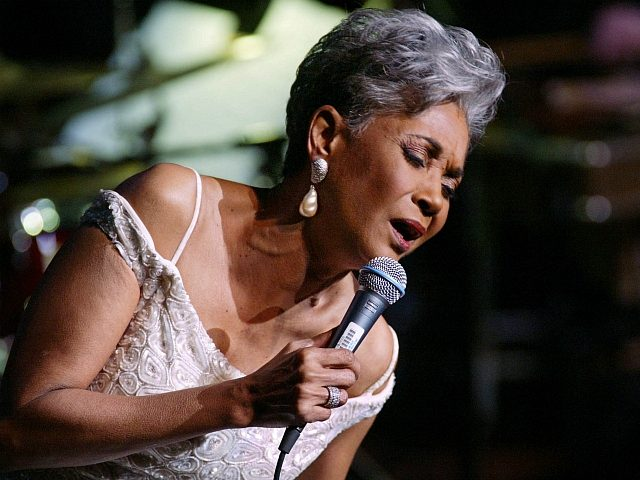Grammy Award winner and legendary vocalist Nancy Wilson performs at the Lincoln Center's Avery Fisher Hall in New York during a concert titled 'Nancy Wilson With Strings: Celebrating Four Decades of Music', Monday,January 13, 2003. Wilson was accompanied by a an elegant 12-piece ensemble and a swinging 16-piece jazz orchestra …