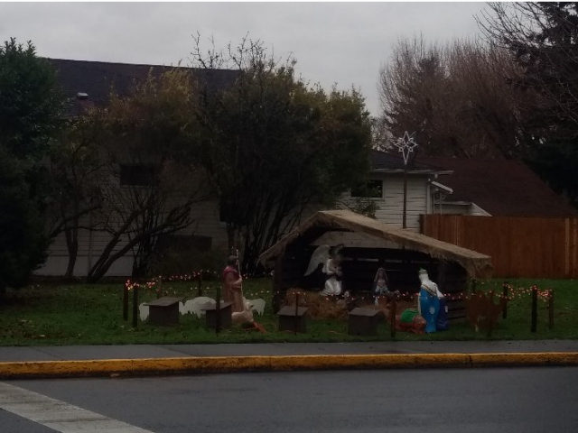 City officials removed a Nativity scene from a public park in Woodland, Washington, on Tuesday after receiving several complaints that a Christian display was featured on public property.