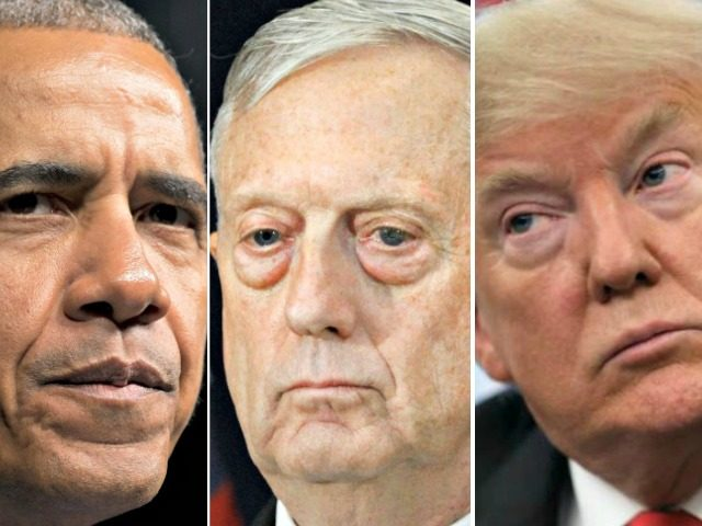 Obama, Mattis, Trump