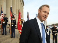 Deputy Defense Secretary Patrick Shanahan, speaks to reporters on the steps of the River entrance of the Pentagon on Wednesday, December 19, 2018. (AP Photo / Manuel Balce Ceneta)