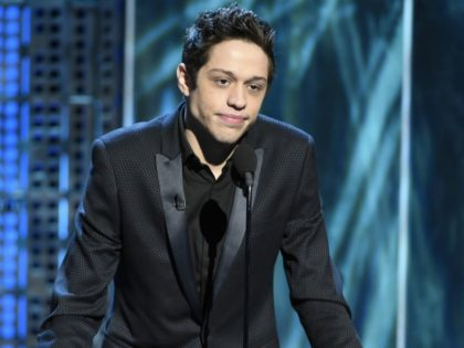 Pete Davidson speaks at the Comedy Central Roast of Justin Bieber at Sony Pictures Studios on Saturday, March 14, 2015, in Culver City, Calif. (Photo by Chris Pizzello/Invision/AP)