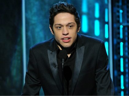 CULVER CITY, CA - MARCH 14: Pete Davidson speaks onstage at the Comedy Central Roast of Justin Bieber at Sony Pictures Studios on March 14, 2015 in Culver City, California. The show will premiere on Monday, March 30 at 10:00pm ET/PT. Credit: PGFM/MediaPunch /IPX