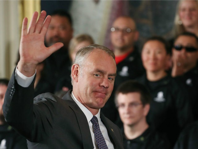 Secretary of the Interior Ryan Zinke to Leave Administration This Month