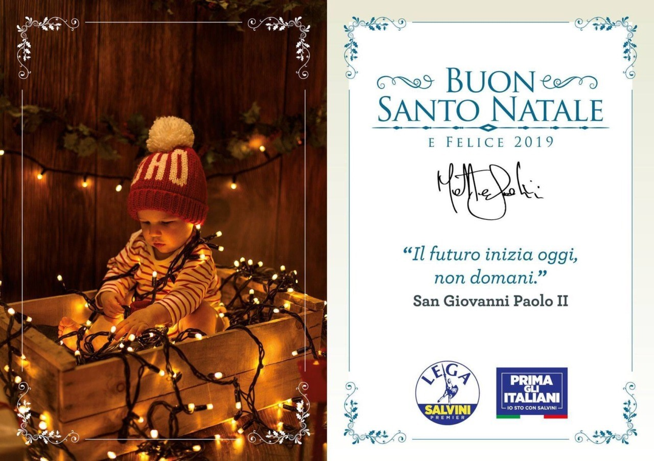 Salvini Xmas card 2018