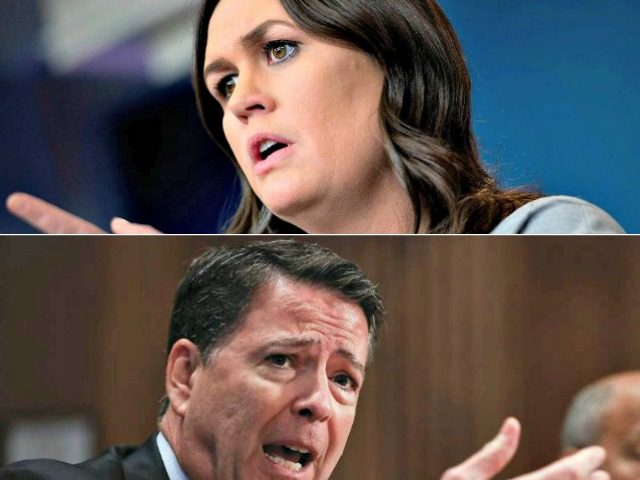 Sarah Sanders vs James Comey