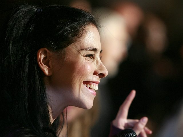 Sarah Silverman does a red carpet interview during CineVegas's opening night and world movie premiere of Saint John of Las Vegas, Wednesday, June 10, 2009 at The Planet Hollywood Resort & Casino, in Las Vegas. (AP Photo/Eric Jamison)
