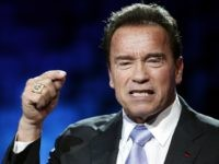Former California Gov. Arnold Schwarzenegger delivers his speech at the One Planet Summit, in Boulogne-Billancourt, near Paris, France, Tuesday, Dec. 12, 2017. World leaders, investment funds and energy magnates promised to devote new money and technology to slow global warming at a summit in Paris that President Emmanuel Macron hopes …