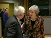 Video: Tense Moment as May Confronts Juncker at Brexit Summit