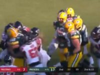 WATCH: Packers and Falcons Brawl After Hit on Aaron Rodgers