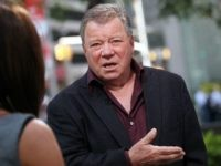 NEW YORK, NY - OCTOBER 06: (L-R) FOX Business Network Anchor, Dagen McDowell talks with actor William Shatner at FOX Studios on October 6, 2011 in New York City. (Photo by Astrid Stawiarz/Getty Images)