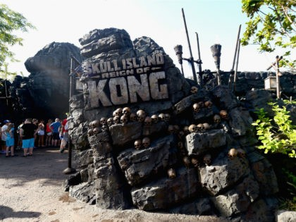 Private Queue Walkthrough at Skull Island: Reign of Kong at Skull Island: Reign of Kong Media Preview at Universal Orlando on August 3, 2016 in Orlando, Florida. (Photo by Gustavo Caballero/Getty Images)