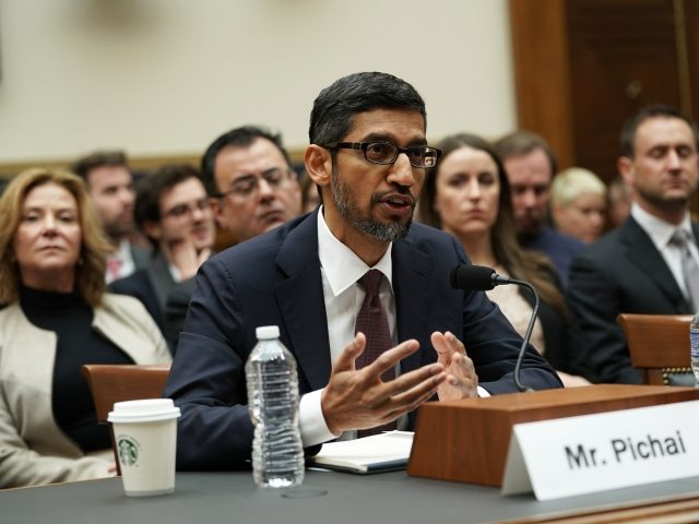 Sundar Pichai of Google testifies