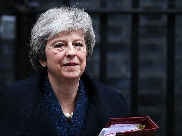 LONDON, ENGLAND - DECEMBER 12: Prime Minister Theresa May leaves 10 Downing Street on her way to Prime Minister's Questions, after it was announced that she will face a vote of no confidence, to take place tonight, on December 12, 2018 in London, England. Sir Graham Brady, the chairman of …
