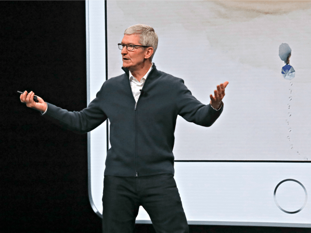Apple CEO Tim Cook speaks during an event to announce new products Tuesday Oct. 30, 2018, in the Brooklyn borough of New York.