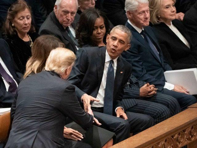Trump HW funeral AP