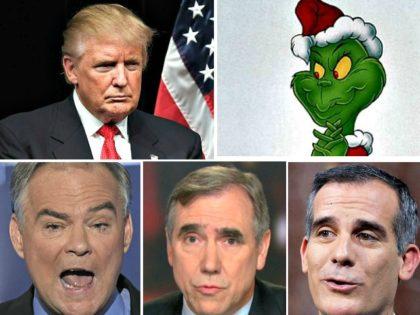 Trump, The Grinch, Kaine, Merkley, Garcetti