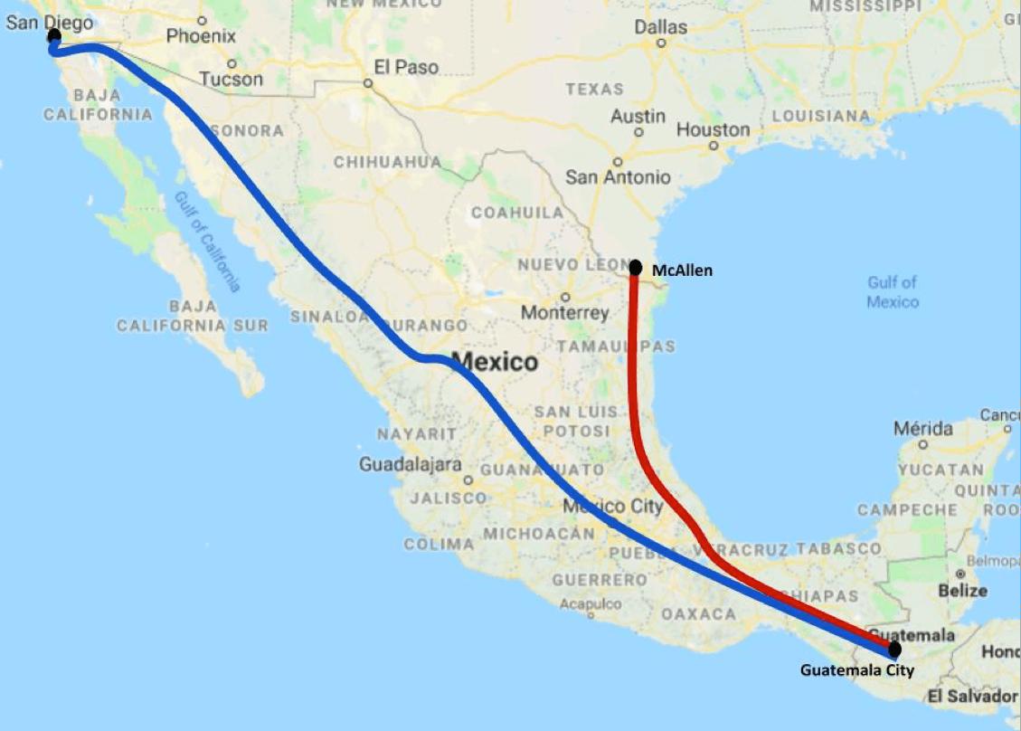 San Isidro California Map.Kris Kobach Understanding The Caravan The Map Says It All Allsides