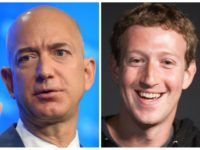Amazon CEO Jeff Bezos and Facebook CEO Mark Zuckerberg