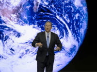 Former US Vice President Al Gore attends a session of the World Economic Forum (WEF) annual meeting on January 21, 2015 in Davos. The world's political and business elite gathered for their annual meeting in the glitzy Swiss ski resort of Davos on January 21, with the shadow of recent …