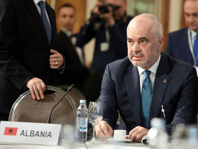 Albanian Prime Minister Edi Rama attends the second day summit meeting of the Central European Initiative (CEI) in Zagreb on December 4. 2018. - Leaders of Central Europe arrived in Zagreb to attend a two day summit meeting of the CEI which is taking place in Zagreb and which marks …