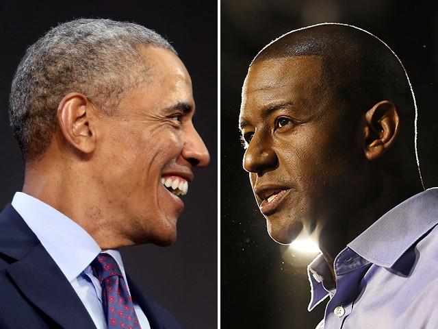 2020: Andrew Gillum Huddles with Barack Obama | Breitbart