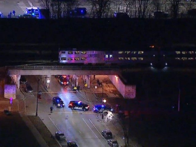 Two Chicago police officers were struck and killed by the city's South Shore Line train during a foot chase Tuesday night.