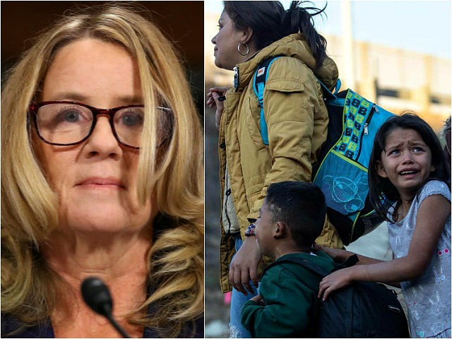 Christine Blasey Ford and detained migrants at the U.S.-Mexico border
