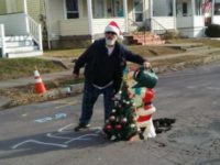 Residents 'Plant' Christmas Tree to Fix Pennsylvania Town's Pothole