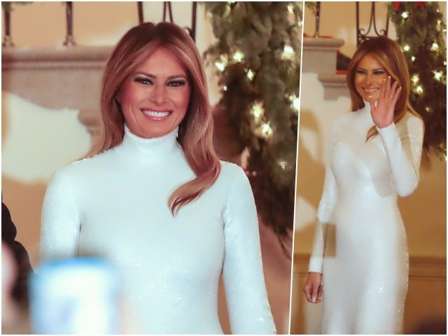 Fashion Notes: Melania Trump Shimmers in Off-the-Runway Celine Gown for White House Christmas Party