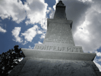 A Confederate monument featuring a statue of a Confederate soldier is seen at the Ocala Veterans Park in the midst of a national controversy over whether Confederate symbols should be removed from public display on August 19, 2017 in Ocala, Florida. The issue is at the heart of a debate …
