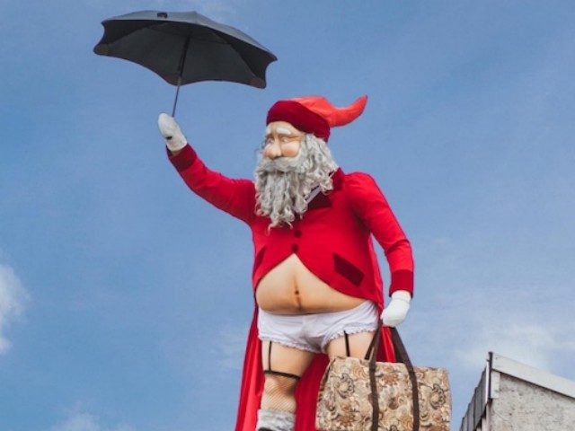 "The Ponsonby Central Mall in New Zealand constructed a giant ""gender-busting"" Santa Claus to greet Christmas shoppers and destroy the innocence of young children."
