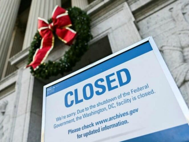 US government shutdown enters 2nd day, set to last through Christmas (AFP ANDREW CABALLERO-REYNOLDS)