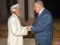 In this Friday, Oct. 26, 2018 file photo, released by Oman News Agency, Oman's Sultan Qaboos, left, receives Israeli Prime Minister Benjamin Netanyahu in Muscat, Oman. A surprise visit to Oman by Netanyahu over the weekend appears to have opened the floodgates for a series of appearances by senior Israeli …