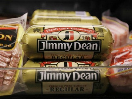 This Wednesday, Aug. 12, 2009 file picture shows Jimmy Dean premium pork sausage, a Sara Lee product, at a grocery store in Chicago. Sara Lee Corp. is splitting into two public companies, completing a long series of moves that took the company from a conglomerate to a smaller business focused …