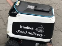 Kiwibot food delivery robot like the one that caught on fire at the UC Berkeley campus