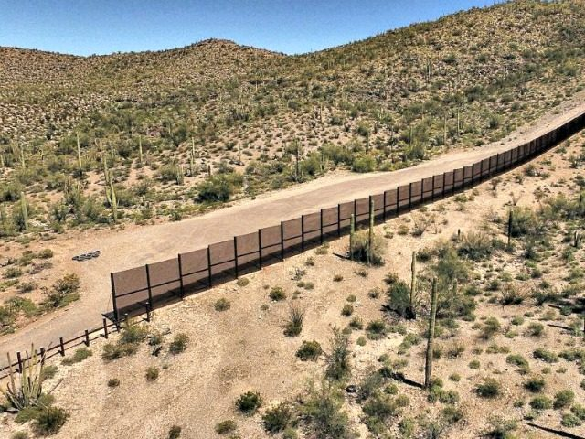 Metal fence along the border in Sonoyta, Sonora state, northern Mexico, between the Altar desert in Mexico and the Arizona desert in the United States, on March 27, 2017.