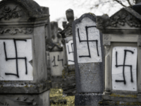 Pictures: Jewish Cemetery near Strasbourg Desecrated with Nazi Swastik