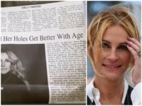 Newspaper Apologizes for Saying Julia Roberts' 'Holes Get Better with Age'