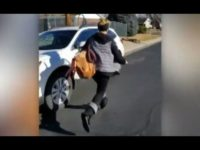 A Colorado homeowner exposed a would-be thief after a package was swiped from her front porch – and she captured the entire encounter on video.