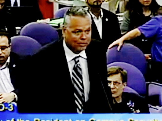 FILE - In this Feb. 18, 2015, file frame from video from Broward County Public Schools, school resource officer Scot Peterson talks during a school board meeting of Broward County, Fla. Meadow Pollack was among the 17 killed on Valentine's Day in a freshman building at Marjory Stoneman Douglas High …