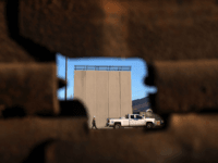 Picture of a prototype of US President Donald Trump's US-Mexico border wall being built near San Diego, in the US, as seen from across the border from Tijuana, Mexico, on October 5, 2017. Following up on President Donald Trump's campaign promise to build a wall along the entire 3,200 kilometre …